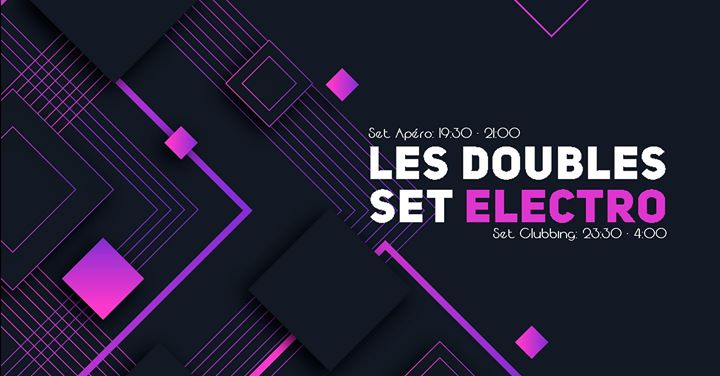 Les Doubles Set Electro à Lyon le sam.  7 décembre 2019 de 19h30 à 04h00 (After-Work Gay)