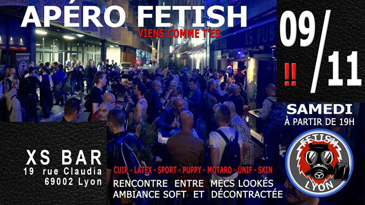 Apéro-Fetish 09/11 XS Lyon FL69 in Lyon le Sa  9. November, 2019 19.00 bis 23.30 (After-Work Gay)