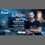 DJ ARON & BETH SACKS AT The Place en Lyon le sáb 19 de enero de 2019 23:00-06:00 (Clubbing Gay, Lesbiana)