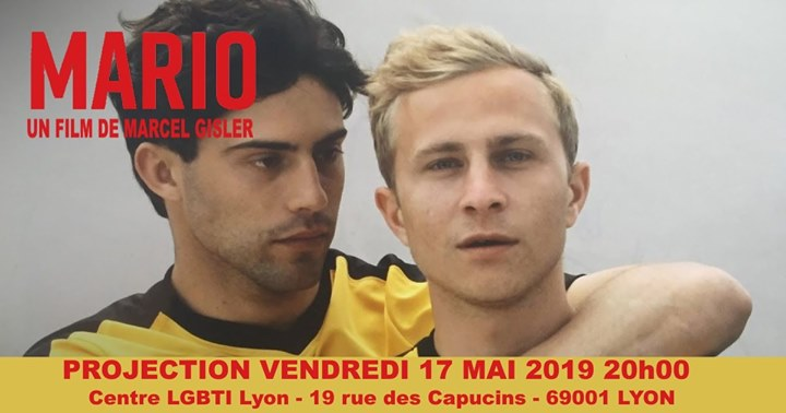 17 mai : Projection du film Mario in Lyon le Fr 17. Mai, 2019 18.00 bis 23.00 (Kino Gay, Lesbierin)