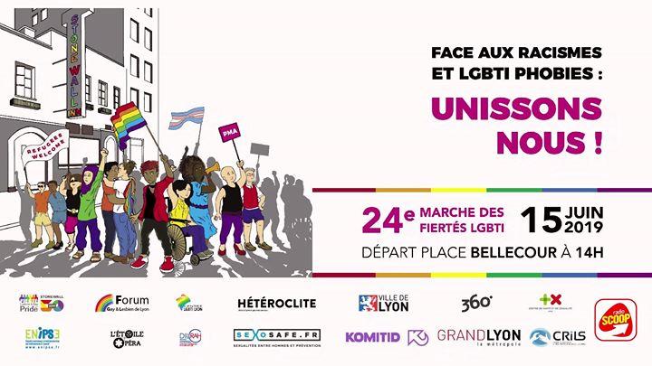 24e marche des Fiertés LGBTI - Lyon 2019 en Lyon le sáb 15 de junio de 2019 14:00-19:00 (Marchas / Desfiles Gay, Lesbiana, Trans, Bi)