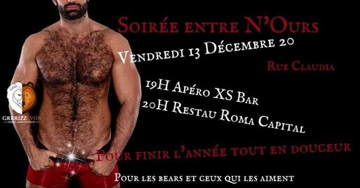 Soirée entre N'Ours ! in Lyon le Fri, December 13, 2019 from 07:00 pm to 10:00 pm (After-Work Gay, Bear)