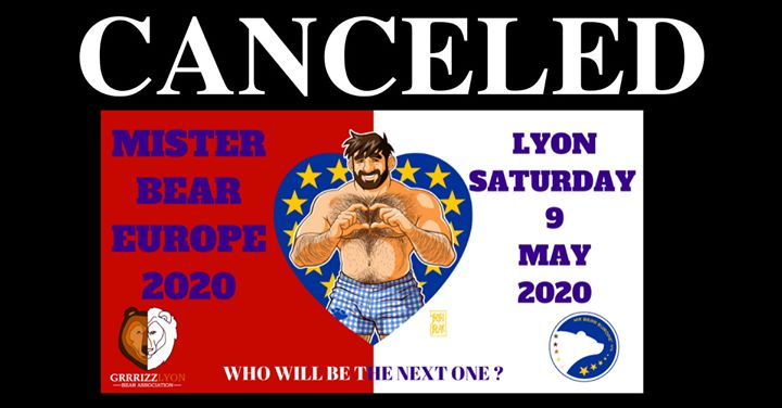 Postponed:Mr Bear Europe 2020 Election in Lyon le Sat, May  9, 2020 from 09:00 pm to 02:00 am (After-Work Gay, Bear)