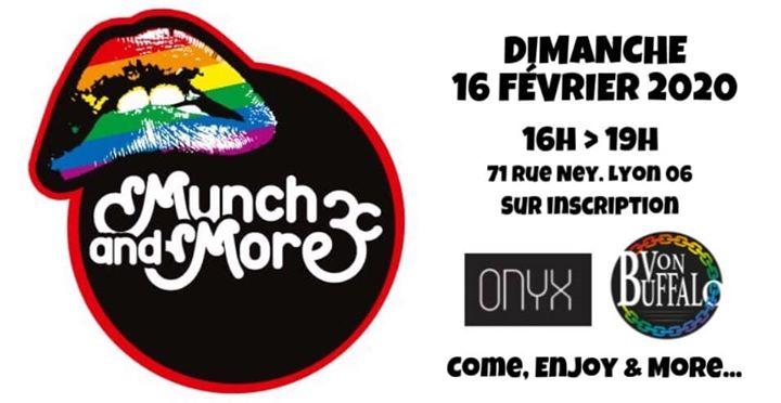 MUNCH & MORE in Lyon le Sun, February 16, 2020 from 04:00 pm to 07:00 pm (Sex Gay, Hetero Friendly)