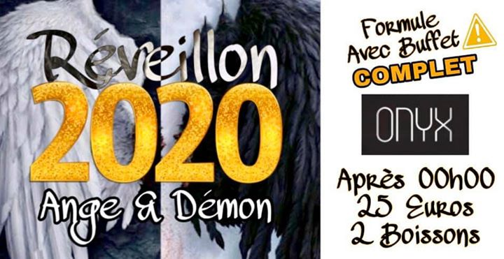 RÉVEILLON .:. Ange & Démon .:. Forfait Buffet >> COMPLET << in Lyon le Tue, December 31, 2019 from 09:00 pm to 05:00 am (Sex Gay, Hetero Friendly)