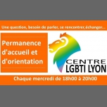 Permanence d'Accueil et d'orientation in Lyon le Wed, November 14, 2018 from 06:00 pm to 08:00 pm (Meetings / Discussions Gay, Lesbian, Trans, Bi)