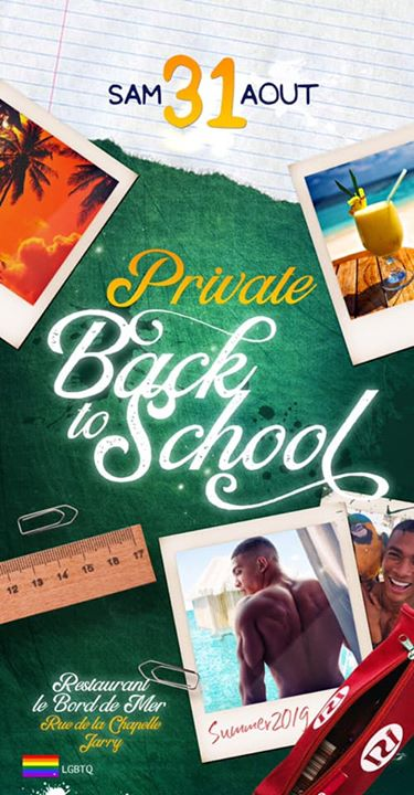 Private Back to school en Pointe-à-Pitre le sáb 31 de agosto de 2019 23:00-06:00 (Clubbing Gay, Lesbiana)