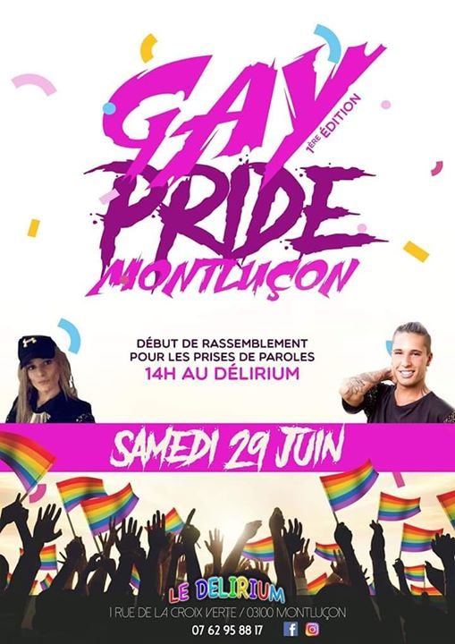 RASSEMBLEMENT ET PRISES DE PAROLES in Montluçon le Sat, June 29, 2019 from 02:00 pm to 05:00 pm (Parades Gay, Lesbian, Trans, Bi)