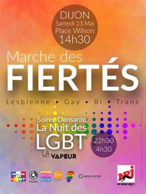 La nuit LGBT à Dijon le sam. 23 mai 2015 de 22h30 à 04h30 (Clubbing Gay, Lesbienne)