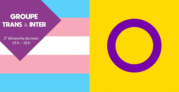 Groupe trans & inter à Rennes le dim. 10 novembre 2019 de 15h00 à 18h00 (Rencontres / Débats Gay, Lesbienne, Trans, Bi)