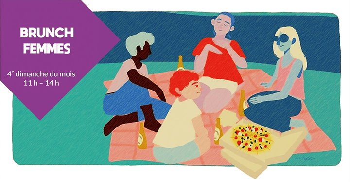 Brunch Femmes à Rennes le dim. 23 juin 2019 de 11h00 à 14h00 (Brunch Gay, Lesbienne, Trans, Bi)