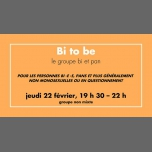 Bi to be à Rennes le jeu. 22 février 2018 de 19h30 à 22h00 (Rencontres / Débats Gay, Lesbienne)