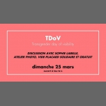 TDoV du CGLBT Rennes in Rennes le Sun, March 25, 2018 from 03:00 pm to 06:00 pm (Meetings / Discussions Gay, Lesbian)