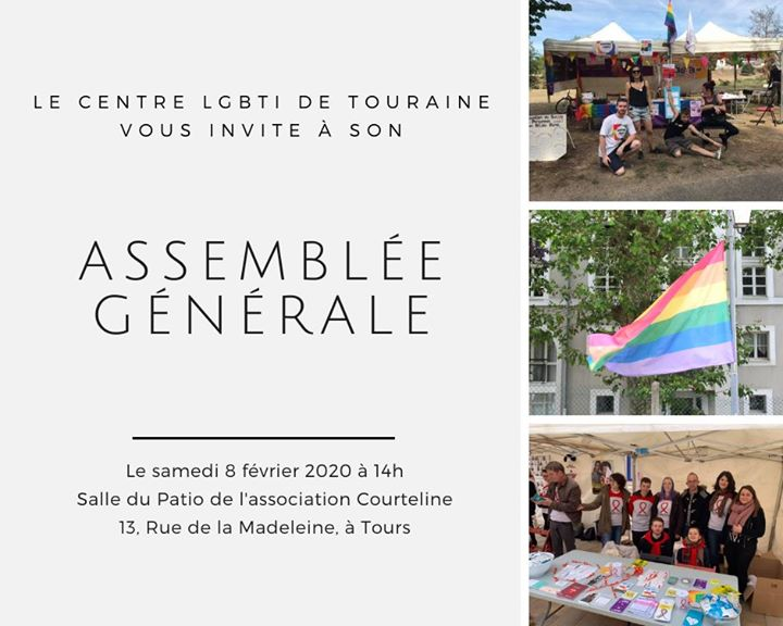 Assemblée générale du Centre LGBTI de Touraine en Tours le sáb  8 de febrero de 2020 14:00-17:00 (Vida asociativa Gay, Lesbiana)