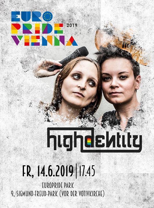 EuroPride 2019: Concert highdentity in Vienna le Fri, June 14, 2019 from 05:45 pm to 06:45 pm (Concert Gay, Lesbian, Trans, Bi)
