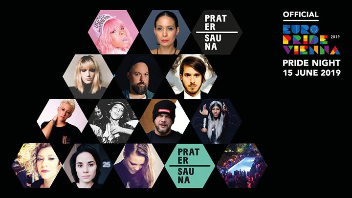 Official EuroPRIDE NIGHT Vienna 2019 in Vienna le Sa 15. Juni, 2019 23.00 bis 06.00 (Clubbing Gay, Lesbierin, Transsexuell, Bi)