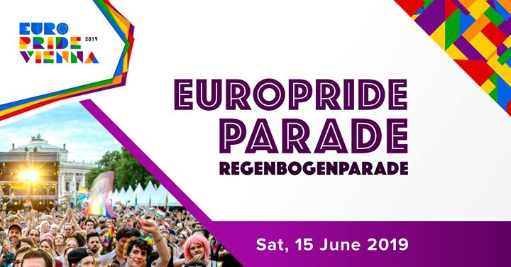 EuroPride Parade / Regenbogenparade 2019 in Vienna le Sa 15. Juni, 2019 12.00 bis 23.59 (Paraden / Umzügen Gay, Lesbierin, Transsexuell, Bi)