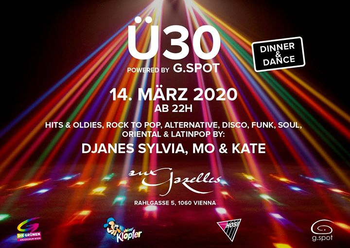 "Ü-30 by g.spot - ""Frühlingserwachen"" in Vienna le Sat, March 14, 2020 from 10:00 pm to 04:30 am (Clubbing Gay, Lesbian, Trans, Bi)"