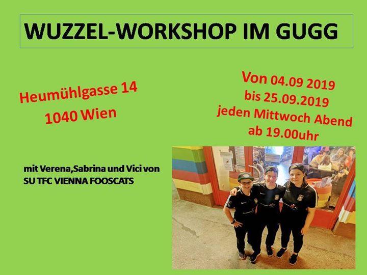 Wuzzel-Workshop en Viena le mié 18 de septiembre de 2019 19:00-22:00 (Curso práctico Gay, Lesbiana, Trans, Bi)