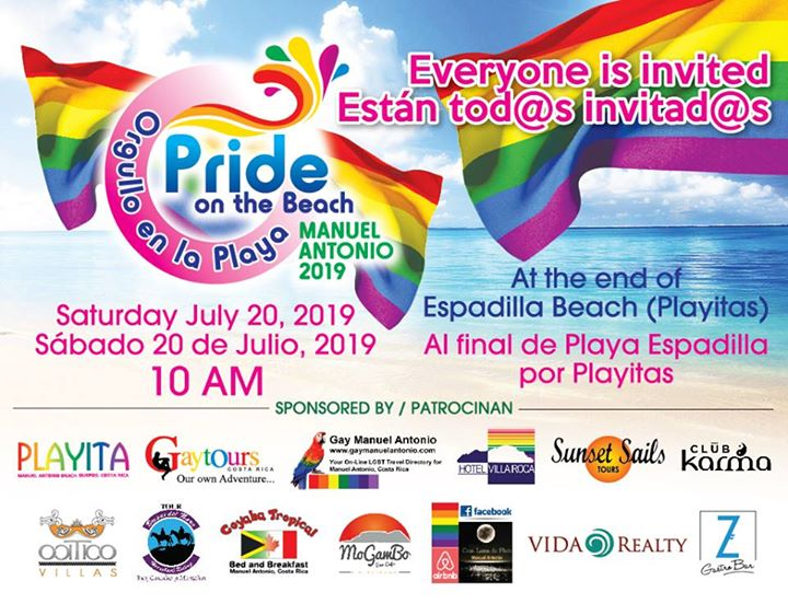 Marcha del Orgullo en Playa Manuel Antonio 2019 en Quepos le sáb 20 de julio de 2019 10:00-13:00 (Marchas / Desfiles Gay, Lesbiana, Trans, Bi)