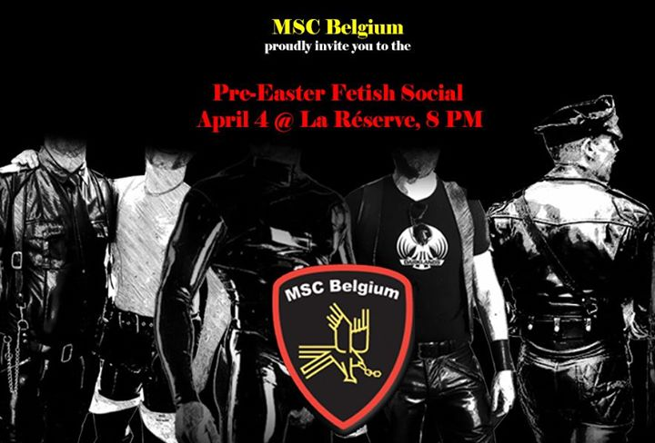 Pre-Easter Fetish Social in Brussels le Sat, April  4, 2020 from 08:00 pm to 11:00 pm (After-Work Gay)