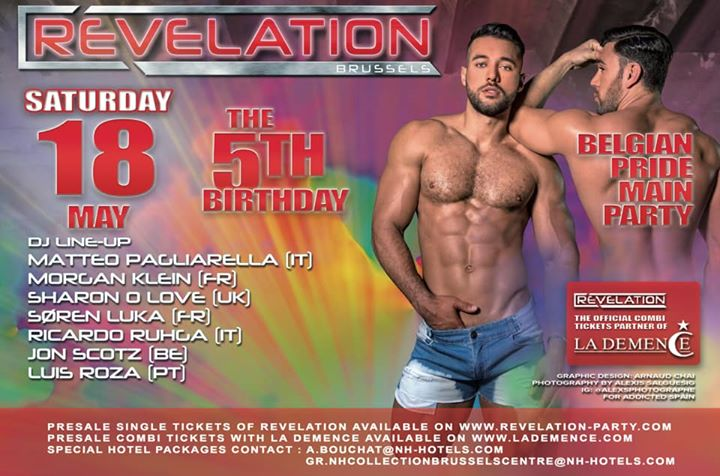 Revelation • The 5th Birthday ! en Bruselas le sáb 18 de mayo de 2019 21:00-09:00 (Clubbing Gay)