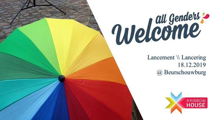 布鲁塞尔All Genders Welcome 2019 : Lancement \\ Lancering2019年10月18日,10:00(男同性恋, 女同性恋 见面会/辩论)