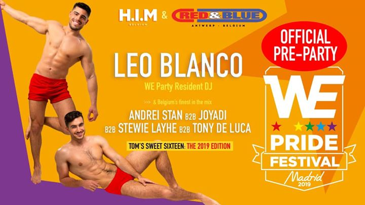 WE Pride Festival Official Pre-Party in Antwerp le Sat, June  8, 2019 at 11:00 pm (Clubbing Gay)