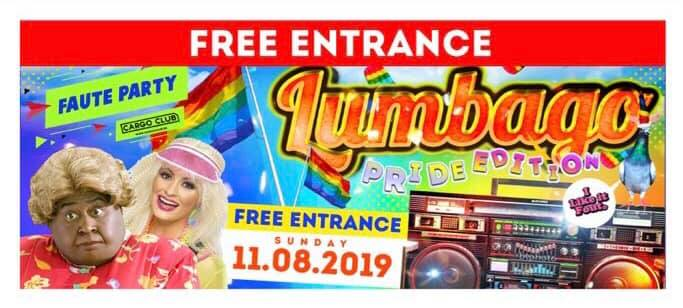 """Lumbago """"De Faute Party"""" Pride Edition in Antwerp le Sun, August 11, 2019 from 11:00 pm to 05:00 am (Clubbing Gay)"""