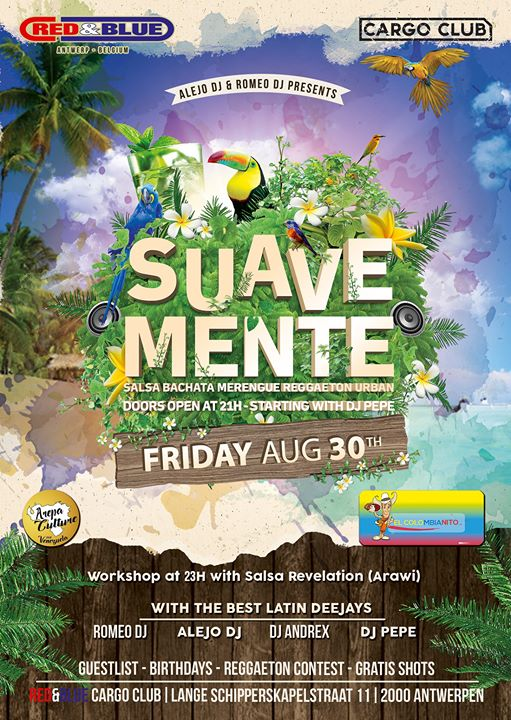 Suavemente 30.08.2019 in Antwerp le Fri, August 30, 2019 from 09:00 pm to 06:00 am (Clubbing Gay)