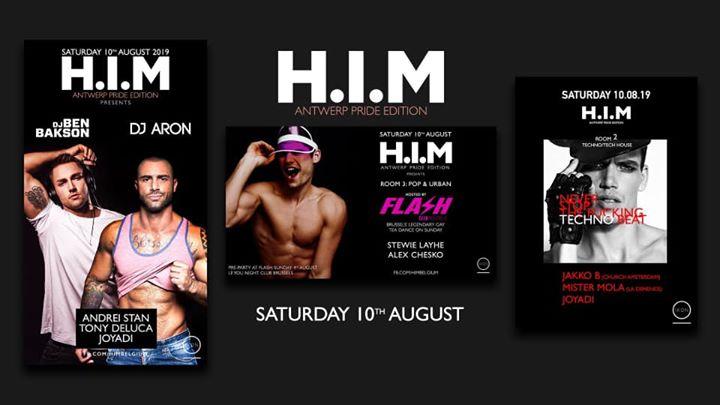 H.I.M - Antwerp PRIDE Edition a Anversa le sab 10 agosto 2019 23:00-11:00 (Clubbing Gay)