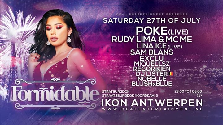 Formidable ~ Saturday 27th July ~ Club Ikon Antwerpen em Antuérpia le sáb, 27 julho 2019 23:00-05:00 (Clubbing Gay Friendly)