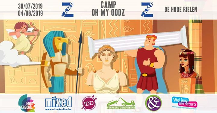 Camp Z 2019 : Oh My GodZ in Kasterlee from July 30 til August  4, 2019 (Clubbing Gay, Lesbian, Trans, Bi)