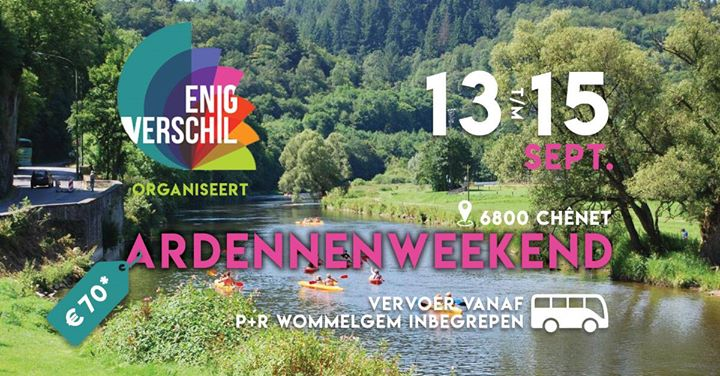 EV Ardennenweekend in Antwerp from 13 til September 15, 2019 (Meetings / Discussions Gay, Lesbian, Trans, Bi)