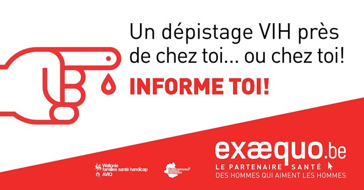 CHARLEROI.Test VIH/Syphilis/VHC: Gratuit, Rapide, Confidentiel in Charleroi le Thu, January  7, 2021 from 04:00 pm to 08:00 pm (Health care Gay, Lesbian, Trans, Bi)