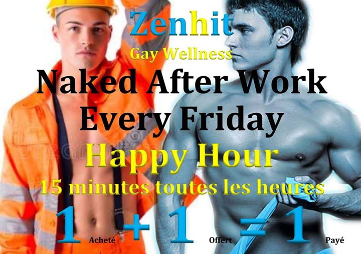 Naked after Work Every Friday & Happy Hour in Neufchâteau le Fri, October 25, 2019 from 02:00 pm to 10:00 pm (Sex Gay)