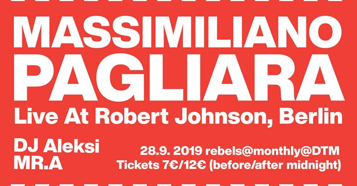 Rebels #17 Massimiliano Pagliara 28.9.2019 at dtm in Helsinki le Sa 28. September, 2019 22.00 bis 06.00 (Clubbing Gay)