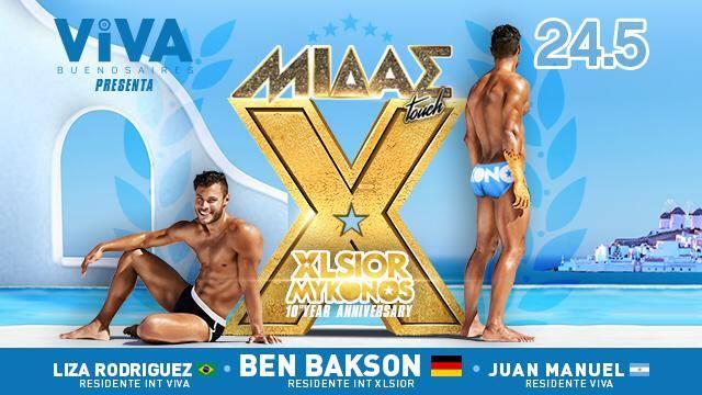 XLSIOR Mykonos | VIVA Buenos Aires à Buenos-Aires le ven. 24 mai 2019 de 23h59 à 06h00 (Clubbing Gay)