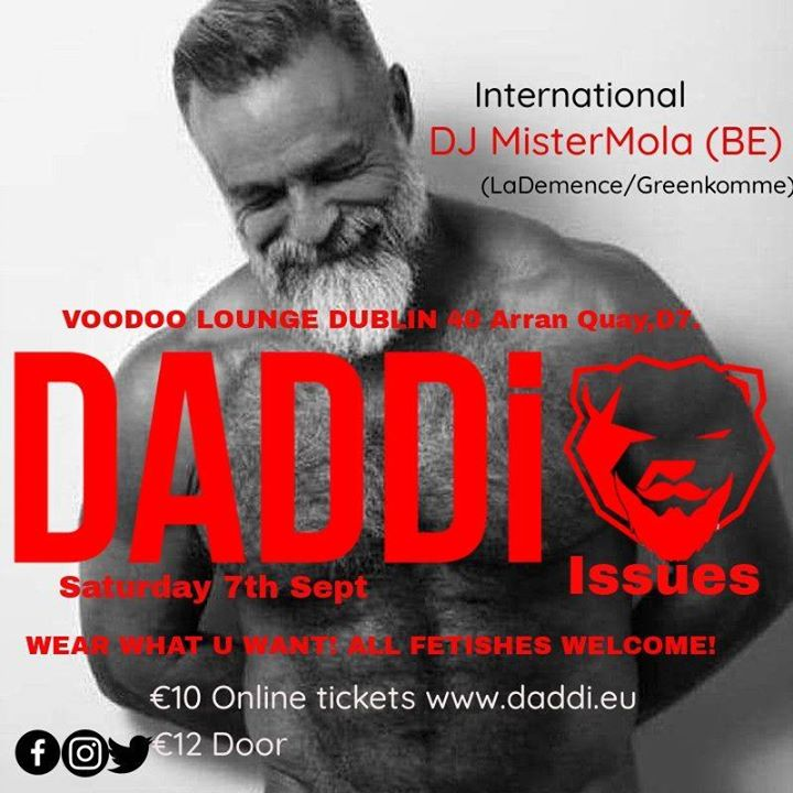 September DADDi DJ Mister Mola in Dublin le Sat, September  7, 2019 from 11:00 pm to 03:00 am (Clubbing Gay, Bear)