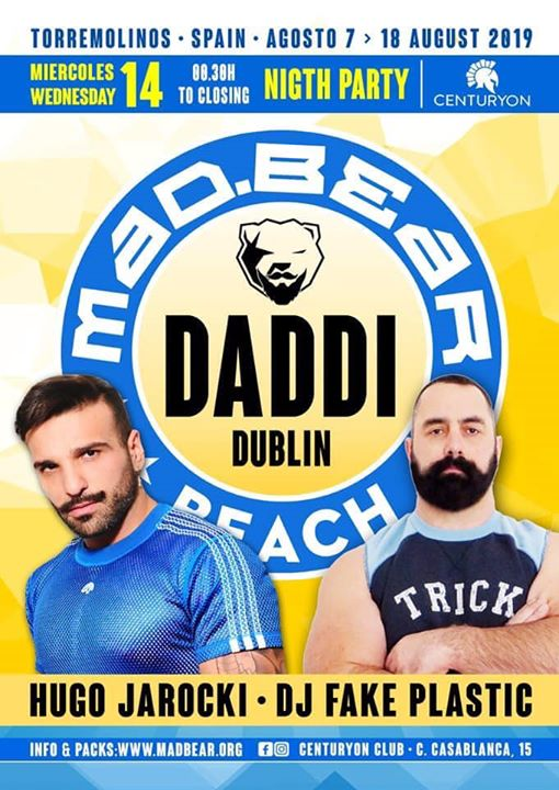 DADDi MadBear Torremolinos en Torremolinos le mié 14 de agosto de 2019 23:00-05:00 (Clubbing Gay, Oso)