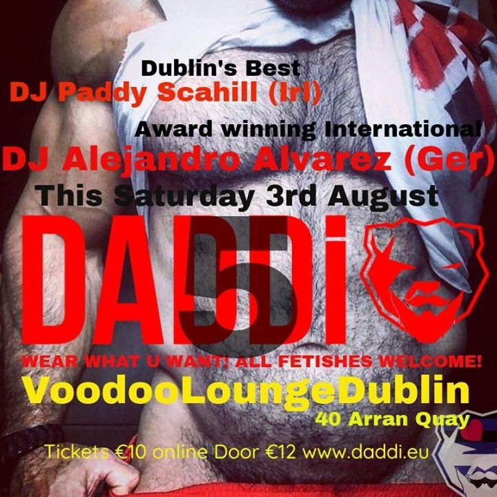 Tomorrow night Sat 3rd Aug Celebrate 5yrs of DADDi® à Dublin le sam.  3 août 2019 de 23h00 à 03h00 (Clubbing Gay, Bear)