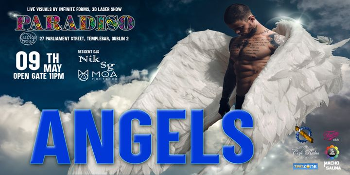 Paradiso - Angels in Dublin le Sat, May  9, 2020 from 11:00 pm to 03:00 am (Clubbing Gay)