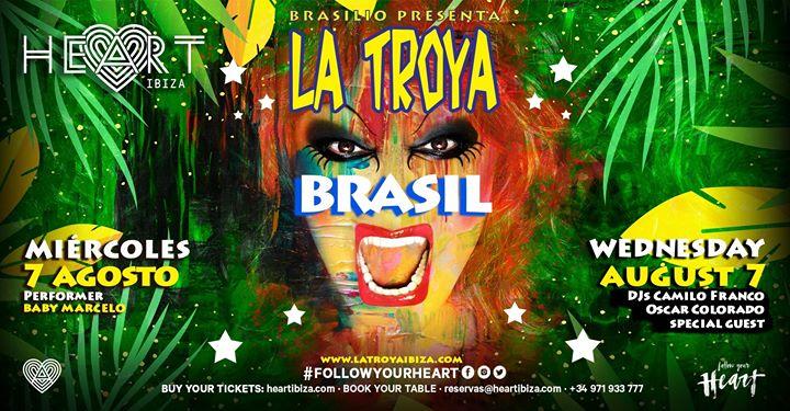 La TROYA Brasil en Ibiza le mié  7 de agosto de 2019 23:30-06:30 (Clubbing Gay)