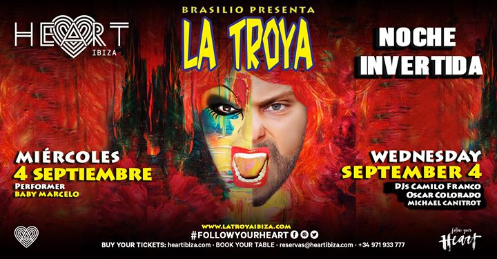 La TROYA Noche Invertida in Ibiza le Mi  4. September, 2019 23.30 bis 06.30 (Clubbing Gay)