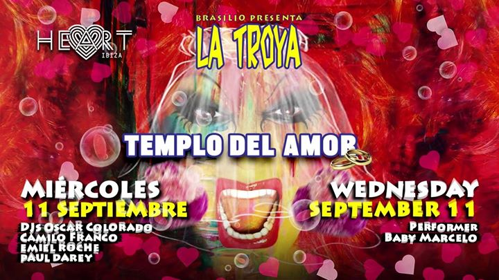 La TROYA Templo Del Amor in Ibiza le Mi 11. September, 2019 23.30 bis 06.30 (Clubbing Gay)