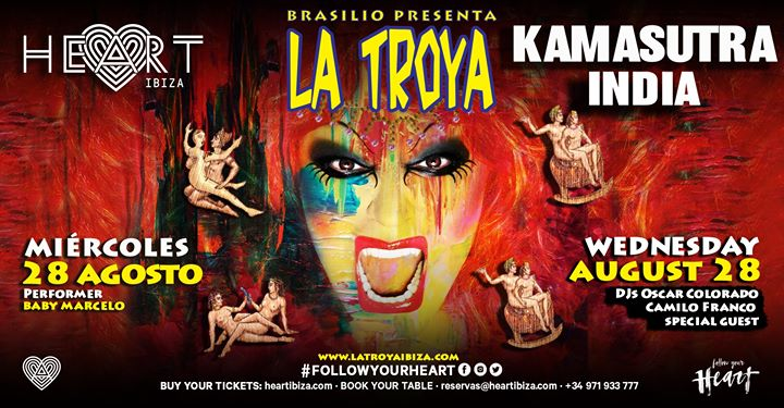 La TROYA Kama Sutra India in Ibiza le Mi 28. August, 2019 23.30 bis 06.30 (Clubbing Gay)