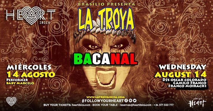 La TROYA Bacanal in Ibiza le Mi 14. August, 2019 23.30 bis 06.30 (Clubbing Gay)