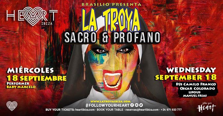 La TROYA Sacro y Profano in Ibiza le Mi 18. September, 2019 23.30 bis 06.30 (Clubbing Gay)
