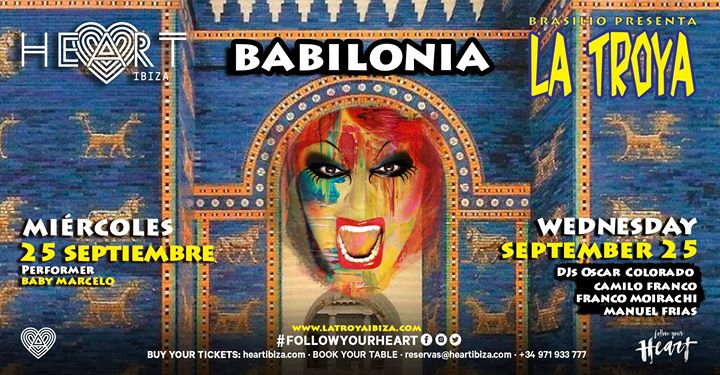 La TROYA Babilonia in Ibiza le Mi 25. September, 2019 23.30 bis 06.30 (Clubbing Gay)