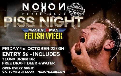 Piss Night a Playa del Ingles le ven  4 ottobre 2019 22:00-04:00 (Sesso Gay)